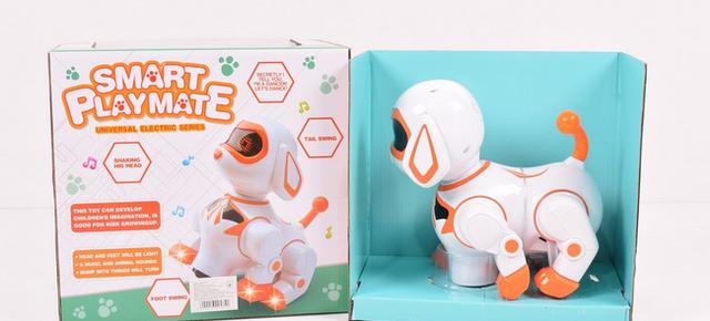 Детская собака робот с звуковыми и световыми эффектами