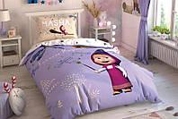 Детское подростковое постельное белье TAC Disney Masha and Bear Magical Ранфорс