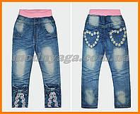 Модные джинсы для девочек | Красивые  джинсы для девочки Бантик