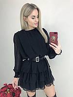 Платье  короткое чёрное