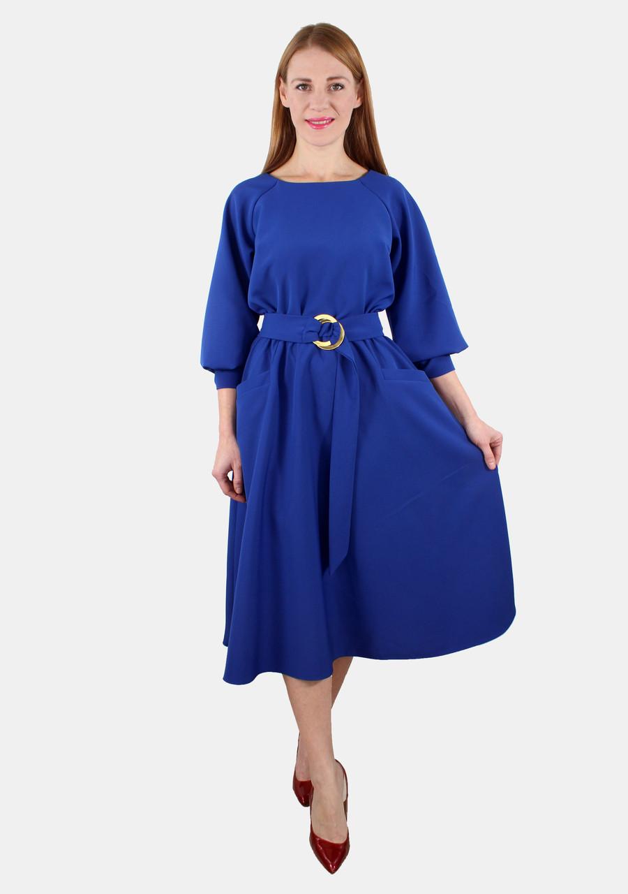 Элегнтное платье с поясом и кармнами 44-50 ( разные цвета )