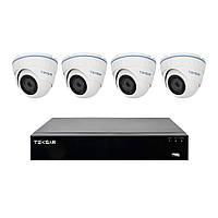Комплект видеонаблюдения на 4 камеры 2 Мп и гибридный AHD видеорегистратор Tecsar B4CH4AB-HD