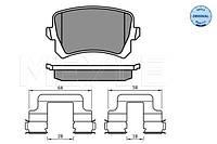 Колодки гальмівні дисковіЗАДН VW PASSAT 05-14. TIGUAN 07-. SHARAN 10-. SEAT ALHAMBRA 10-. ALTEA 09-