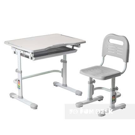 Комплект парта + стул трансформеры Vivo Grey FUNDESK - ОПТОМ ДЛЯ ШКОЛ, фото 2