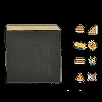 Бумажный пакет Уголок Чёрный для сендвичей 160х170мм (ВхШ) 40г/м² 500шт (1891)