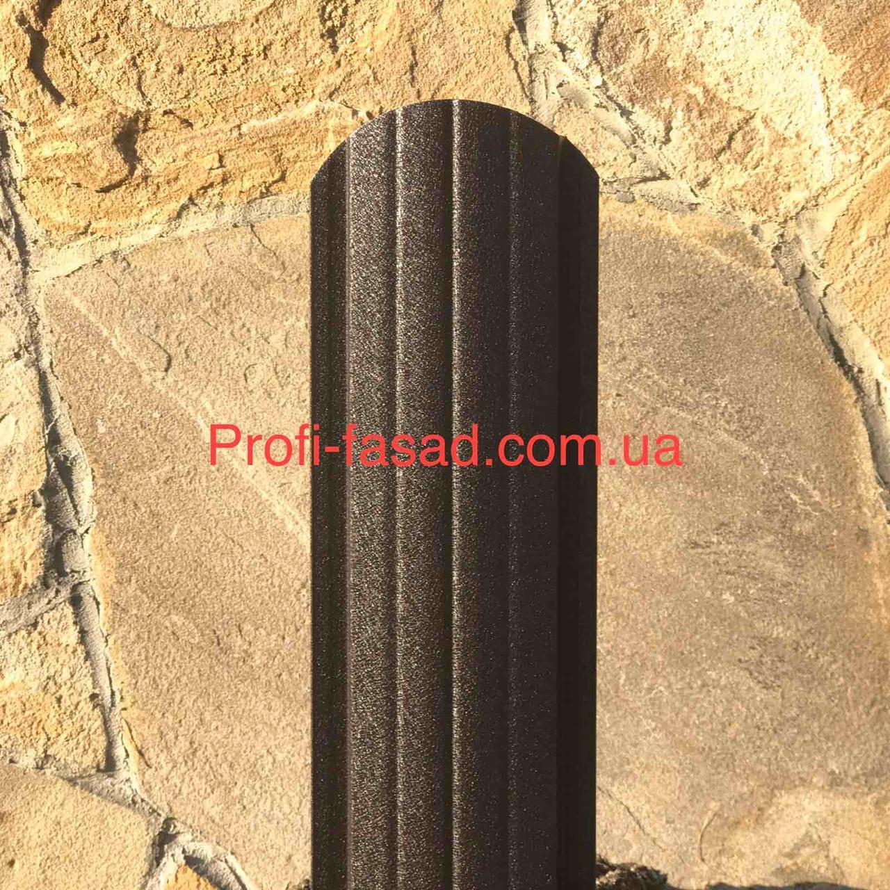 Штакетник матовый 2х ст. 8019 105мм 115мм евроштакетник штакет