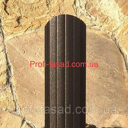 Штакетник матовый 2х ст. 8019 105мм 115мм евроштакетник штакет, фото 2