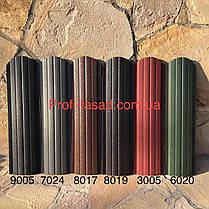 Штакетник матовый двухсторонний  RAL 8017 105мм 115мм евроштакетник штакет, фото 2