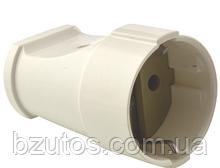 Розетка РА16-319 АБС біла