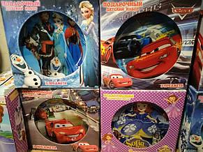 Только опт!!! Подарочный детский набор стеклянной посуды 3 предметы, фото 3