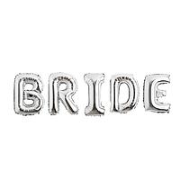 Фольгированная надпись 40' Китай Bride серебро в упаковке, 100 см