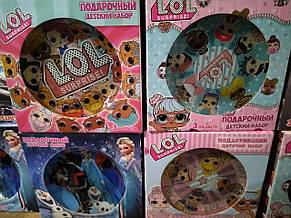 Только опт!!! Подарочный детский набор стеклянной посуды 3 предметы, фото 2