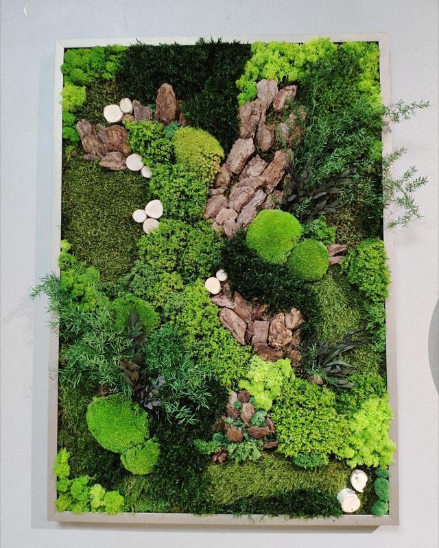 Картина Из стабилизированных растений 700*1000 мм