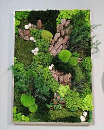 Картина З стабілізованих рослин 700*1000 мм