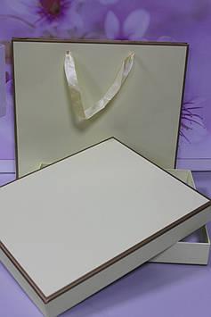 Подарочный набор коробка с пакетом желтый для упаковки подарка
