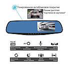 Автомобільне дзеркало відеореєстратор для авто на 2 камери VEHICLE BLACKBOX DVR 1080p камерою заднього виду, фото 6