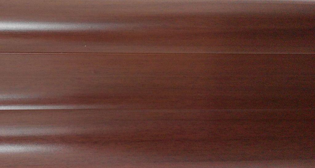 Плинтус с кабель  каналом и мягким краем BS24 Дуб кубинский