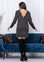 Стильное платье - туника черное 005D/01