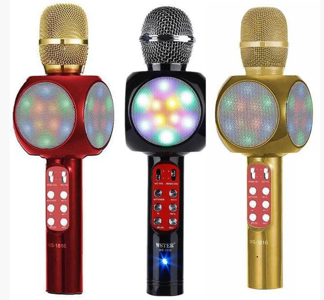 Микрофон с функцией караоке Wster WS-1816 Красный