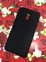 Meizu M6 Note чехол цветной силиконовый матовый черный
