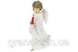 "Декоративная фигурка, статуэтка ""Ангел со свечой"" 20 см"