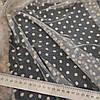 Ткань сетка с флоком горох бежевая, фото 4