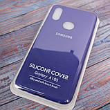 Чехол Original Soft Samsung A10s фиолетовый/Purple, фото 7