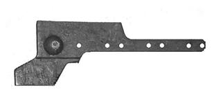 Головка ножа режущего аппарата ЖВН 01.250 (пятка) для жатки ЖВН-6