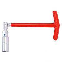 Intertool HT-1717 Свечной ключ Т-образный с шарниром 16х250 мм