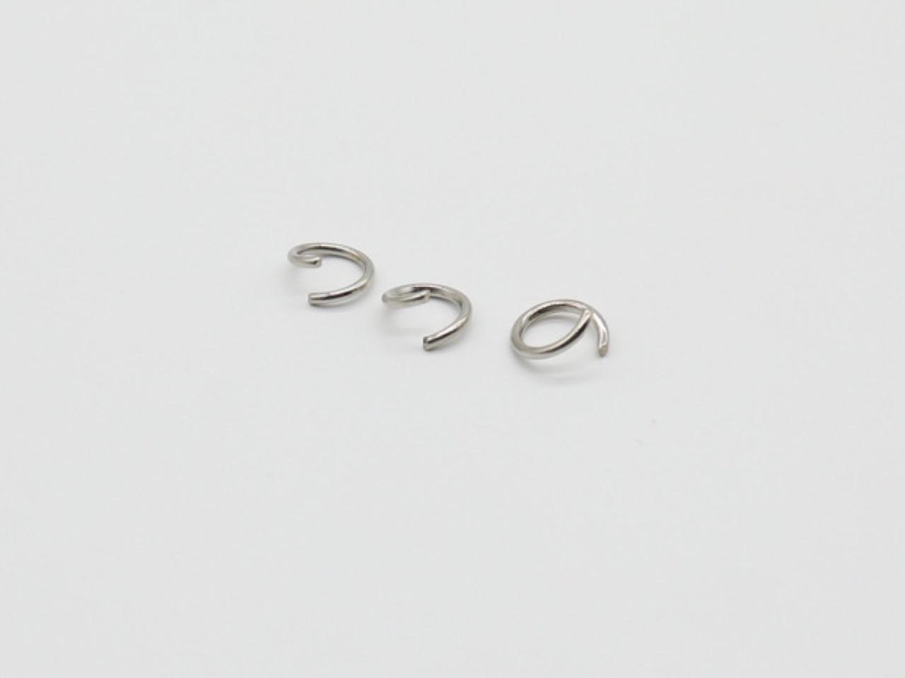 Переходник для колец. 10000шт/уп. Цвет серебро. 8,5х1,2мм