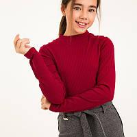 Бет. Яркий гольф для девочек. Красно/ малиновый. ( 140, 152. 158), фото 1