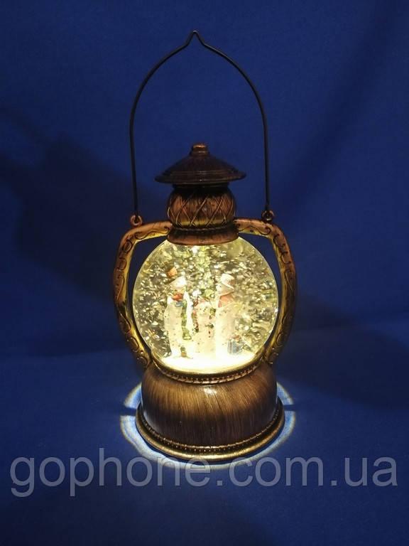 Новогодний фонарик Снежная метель