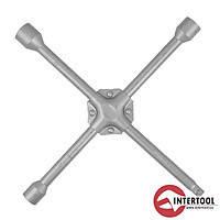 """Intertool HT-1602 Ключ баллонный крест усиленный 16х355мм 17,19,1/2"""",22мм"""