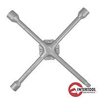 "Intertool HT-1604 Ключ баллонный крестовой укрепленный 16х355мм 17,19,1/2"",21мм"