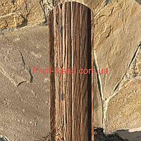Евроштакетник Темное дерево двухсторонний 3Д 105мм 115мм