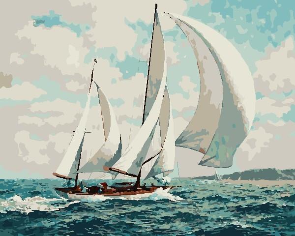 Раскраска по номерам По морским просторам ArtStory AS0712 40 х 50 см