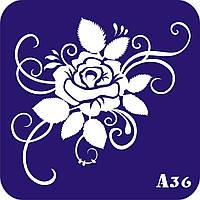 Трафареты для Био Тату (А 1) Цветы, фото 1