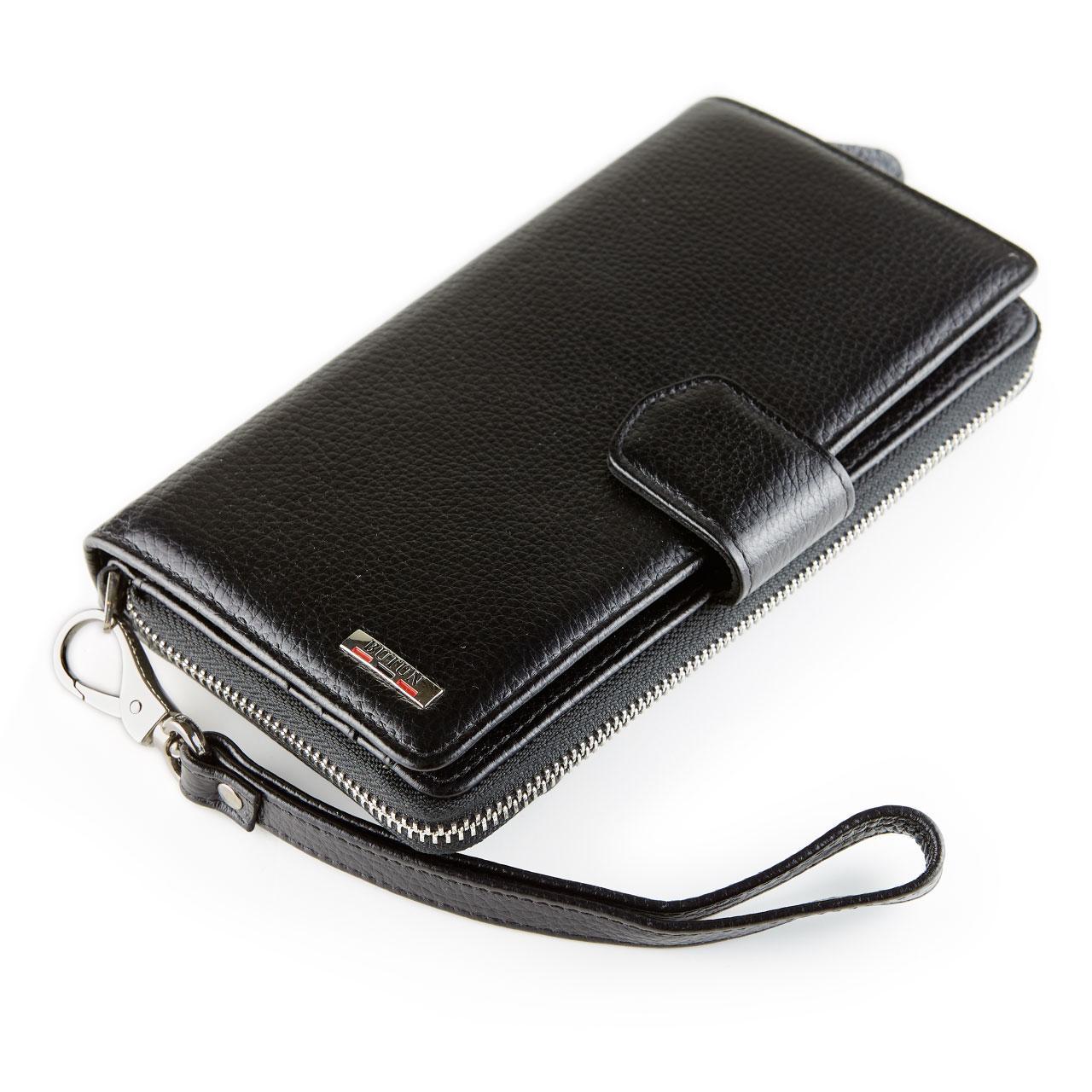 Женский кошелек клатч кожаный черный BUTUN 594-004-001