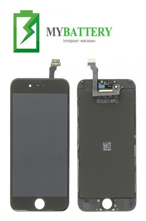 Дисплей (LCD) Apple iPhone 6 (4.7) с сенсором черный оригинал (переклейка)