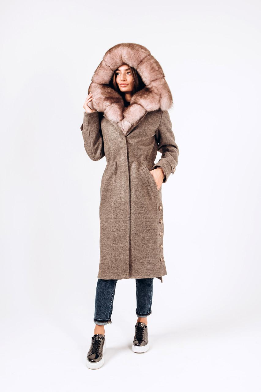 Зимнее пальто-парка с мехом песца O.Z.Z.E Д 302