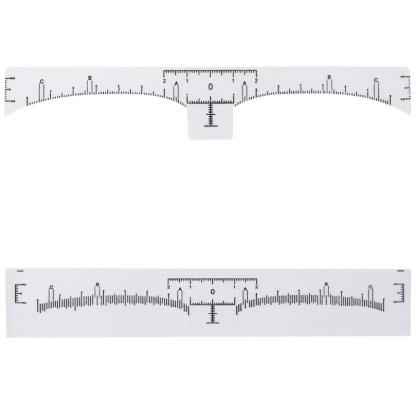 Одноразовая линейка для дизайна бровей с разметкой