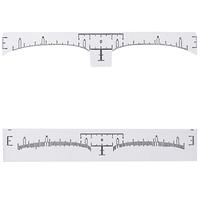 Одноразовая линейка для дизайна бровей с разметкой, фото 1