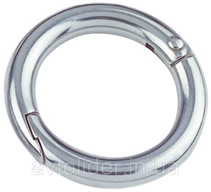 Нержавеющее кольцо разъемное с защелкой.