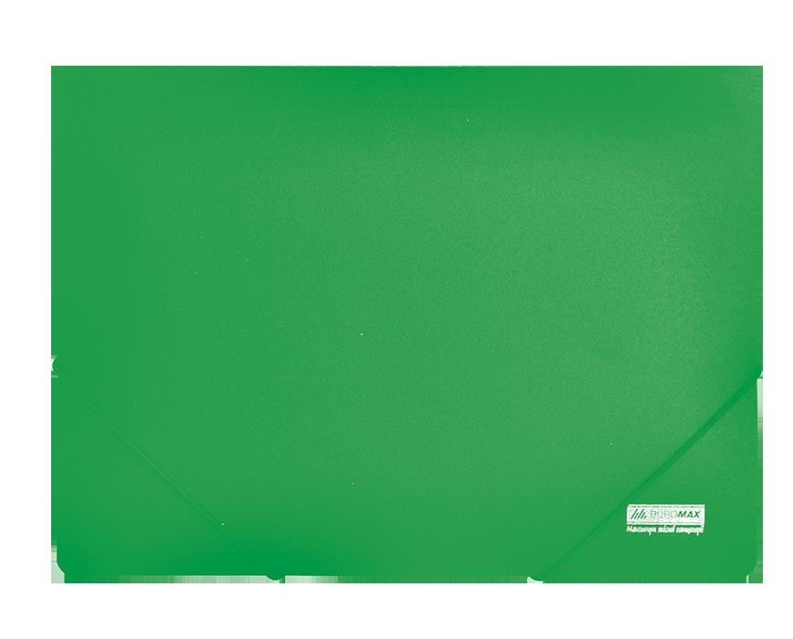 Папка пластиковая А4 на резинках Jobmax зеленая