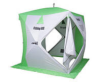 "Палатка для зимней рыбалки Куб ""Fishing ROI"" CYCLONE (150*150*170см) white-green"