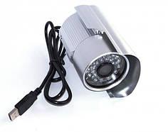 Внешняя цветная камера видеонаблюдения уличная наружная CCTV 569 USB