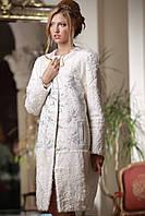 Пальто из белого тибетского ягненка и кашемира, фото 1