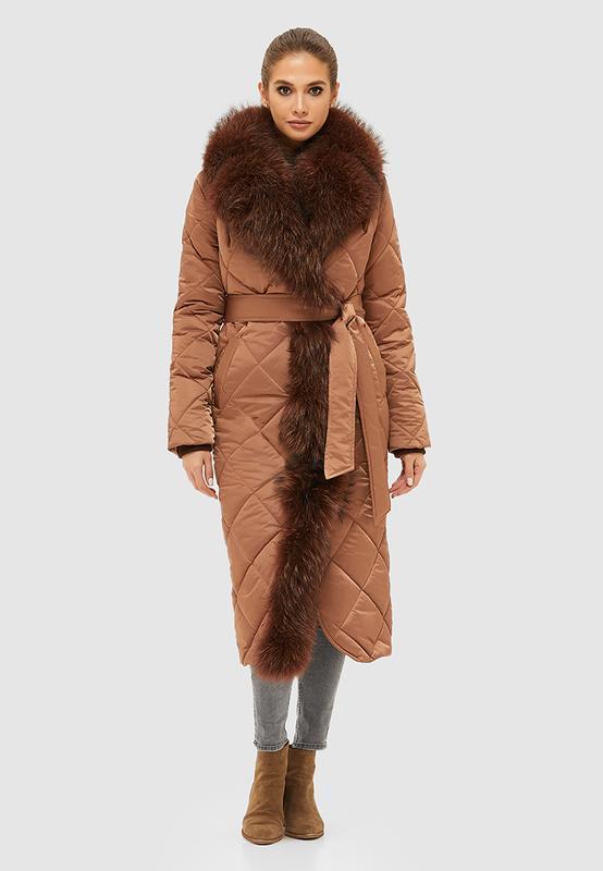Зимнее женское стеганое пальто размер: 42
