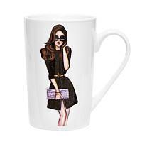 Чашка 390 мл Модная девушка Keramia