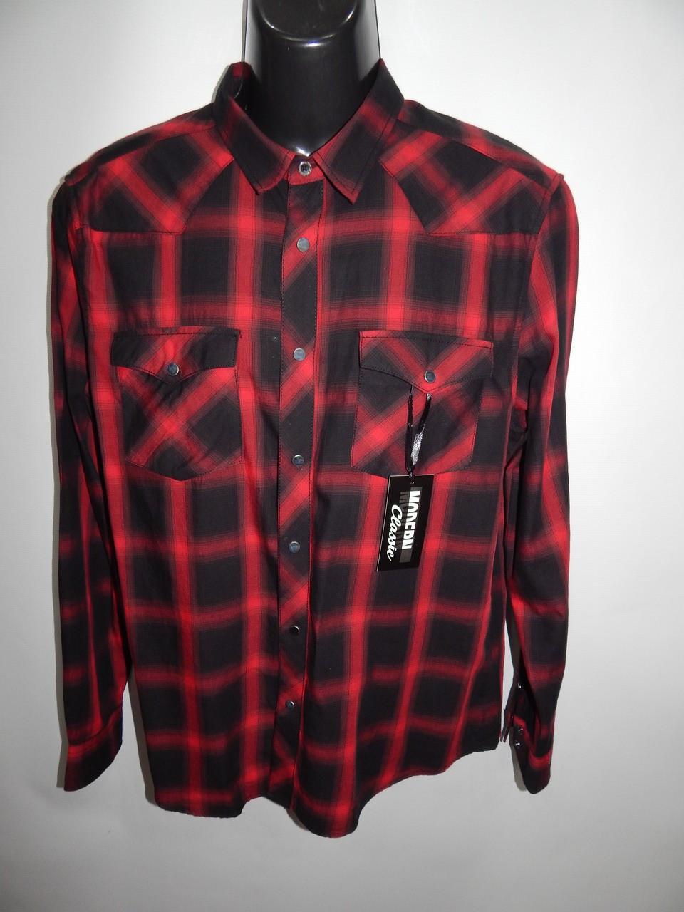 Мужская рубашка с длинным рукавом Clockhouse 067ДР р.52